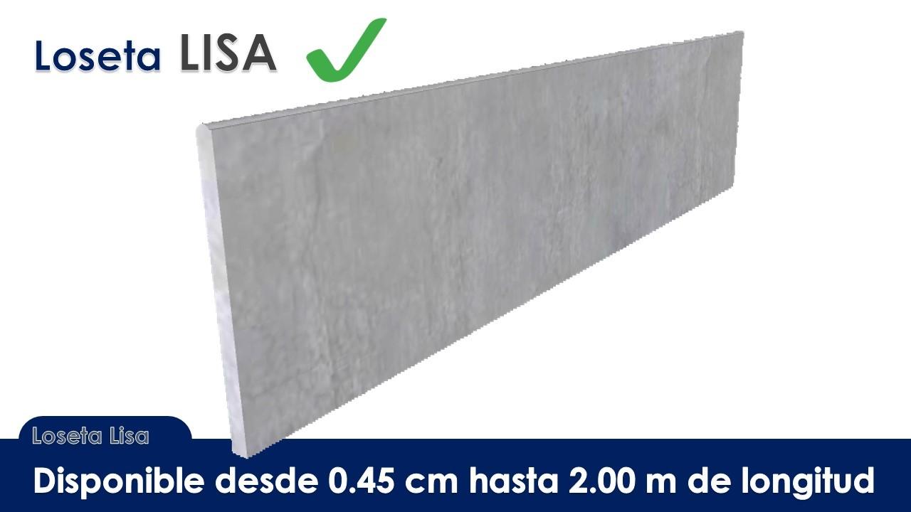 Loseta lisa de concreto